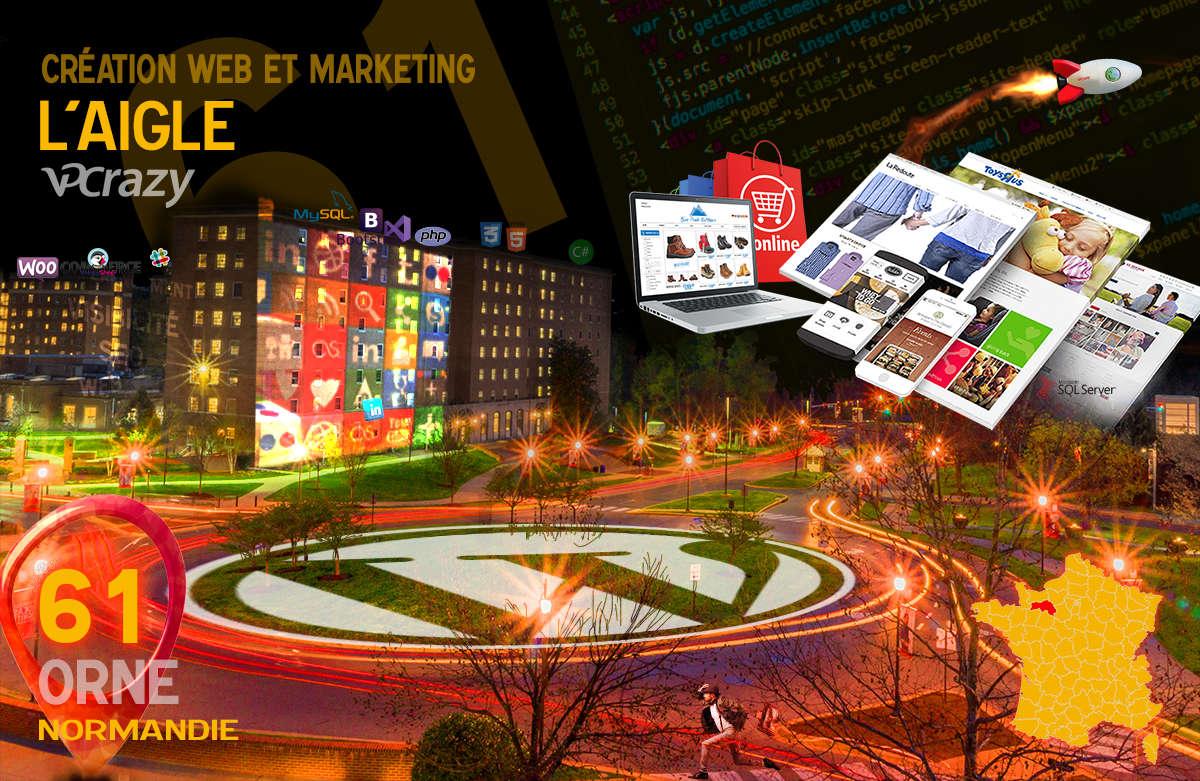 Créateur de site internet L'Aigle et Marketing Web
