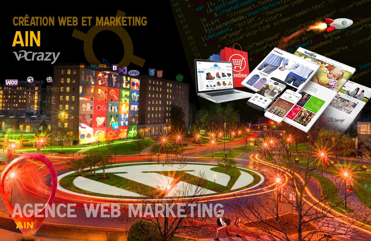 Créateur de site internet Ain et Marketing Web