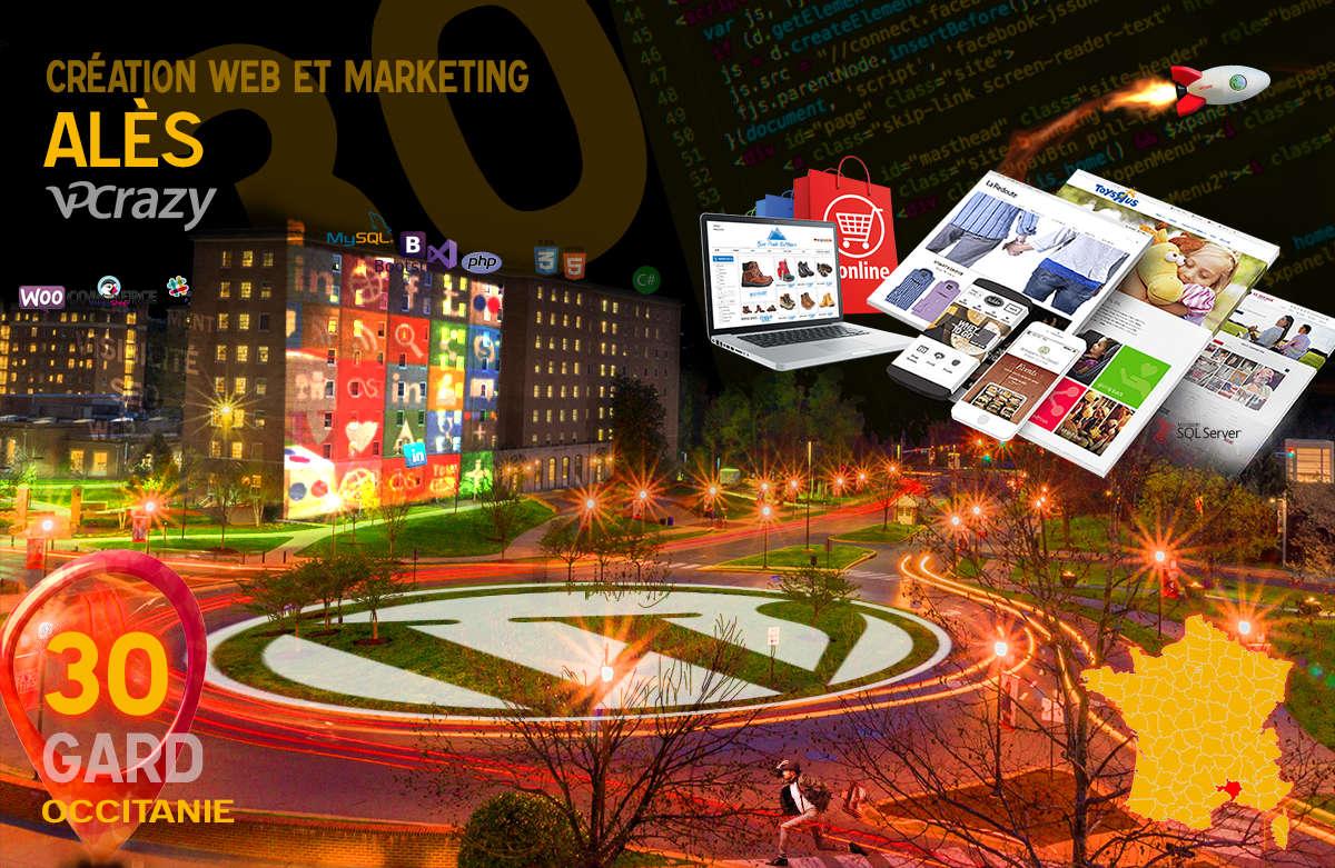 Créateur de site internet Alès et Marketing Web