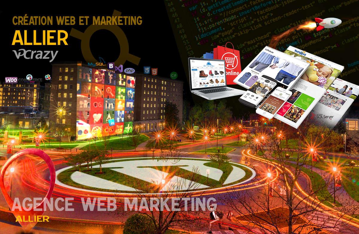 Créateur de site internet Allier et Marketing Web