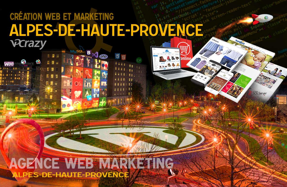 Créateur de site internet Alpes-de-Haute-Provence et Marketing Web
