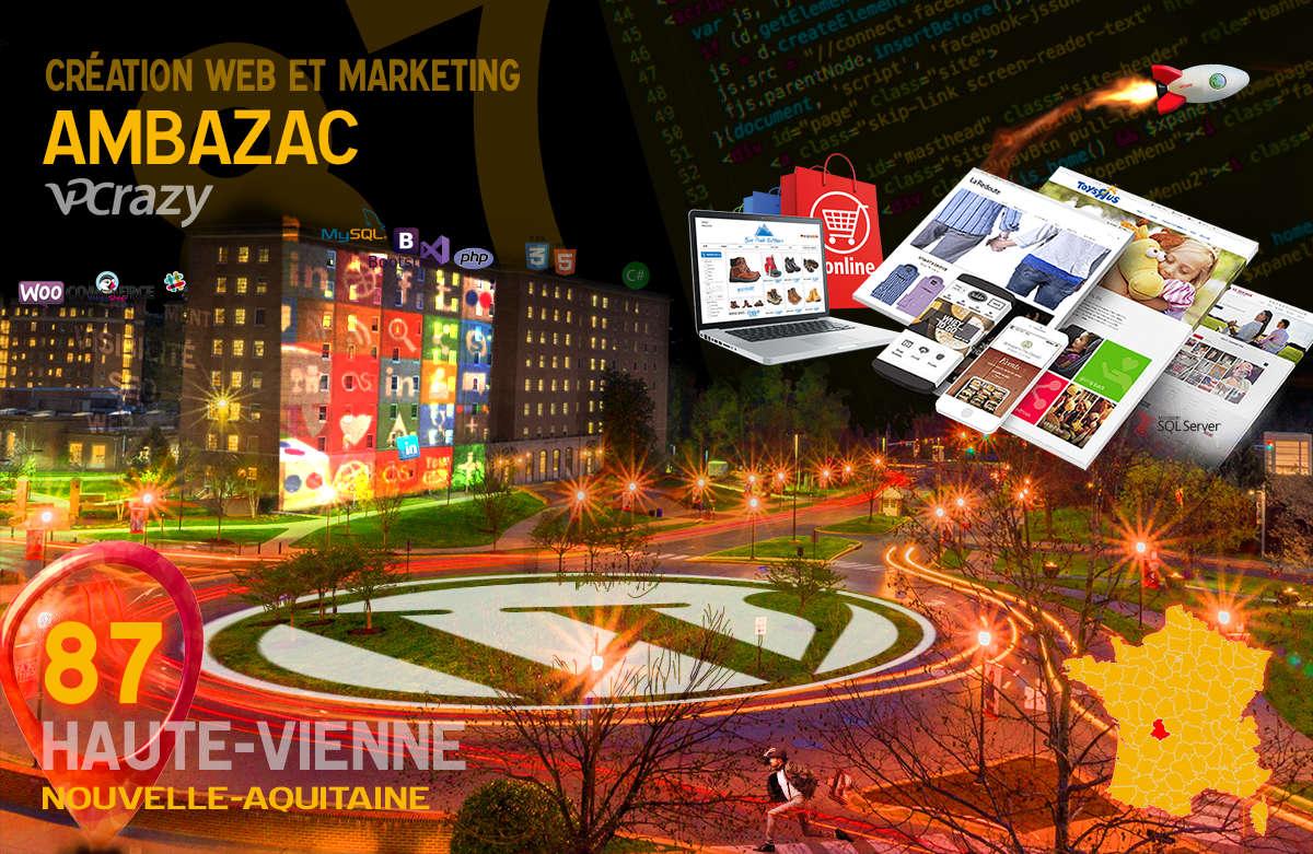 Créateur de site internet Ambazac et Marketing Web