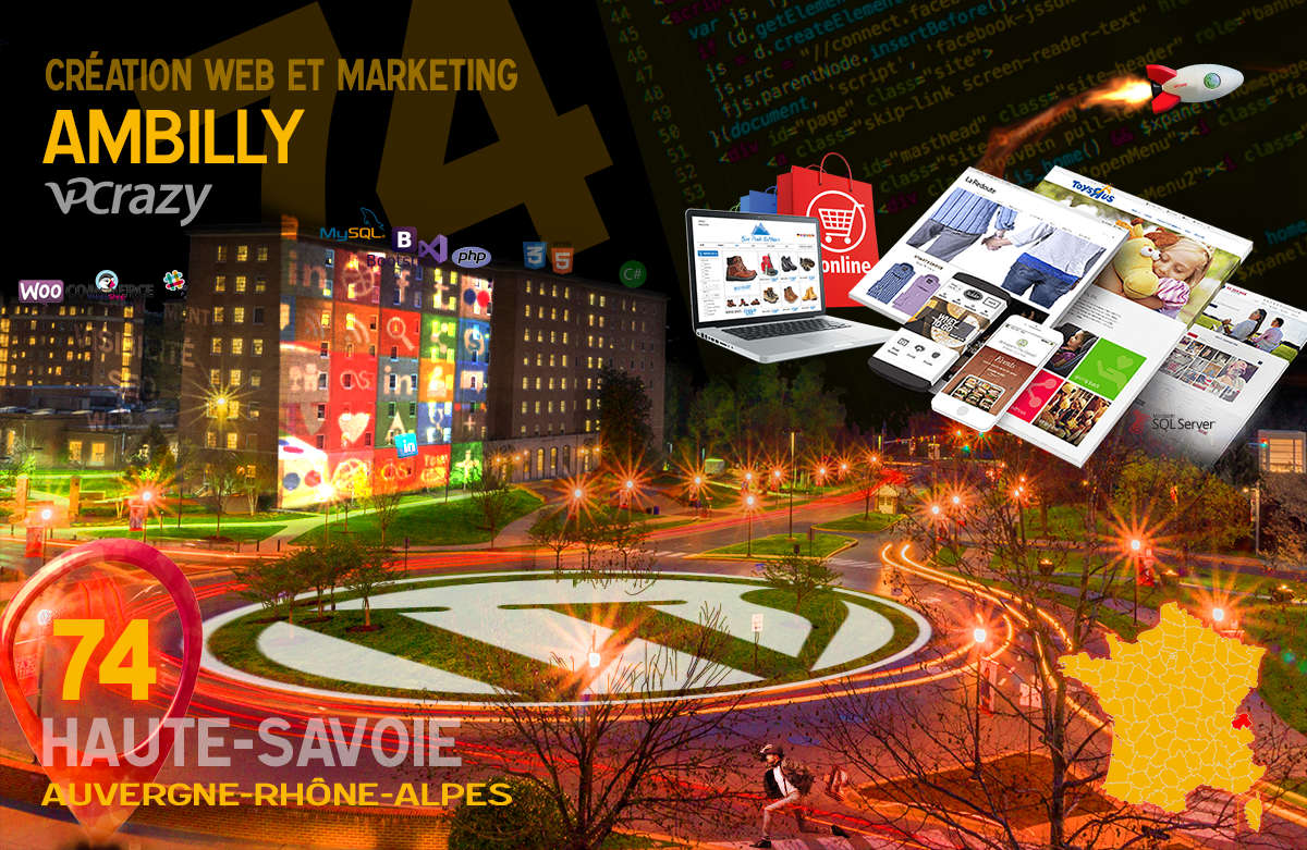 Créateur de site internet Ambilly et Marketing Web