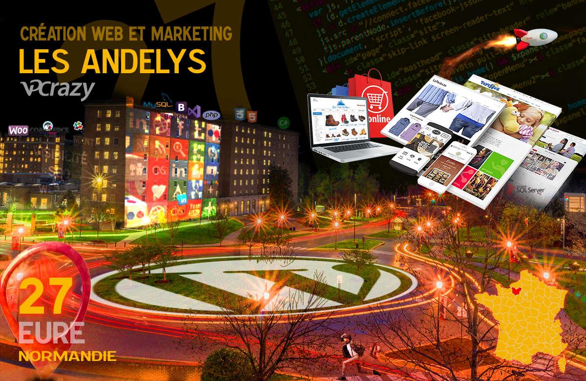 Créateur de site internet Les Andelys et Marketing Web
