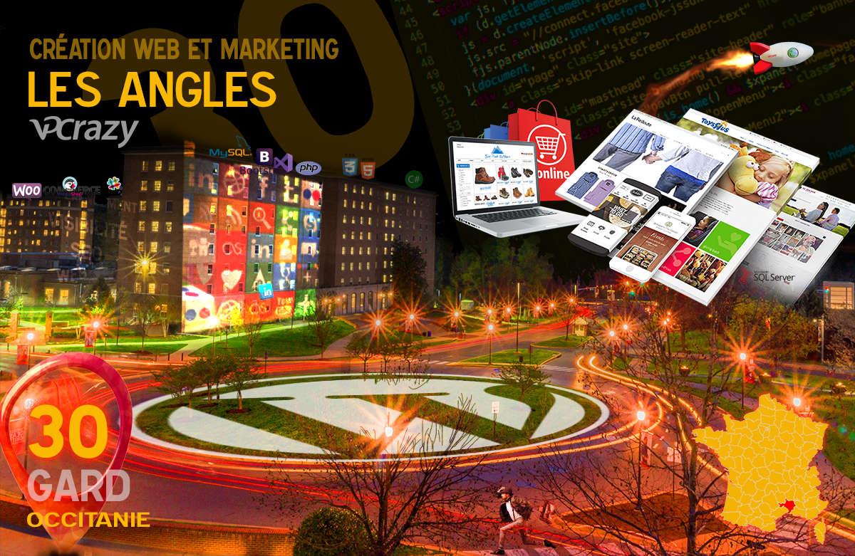 Créateur de site internet Les Angles et Marketing Web
