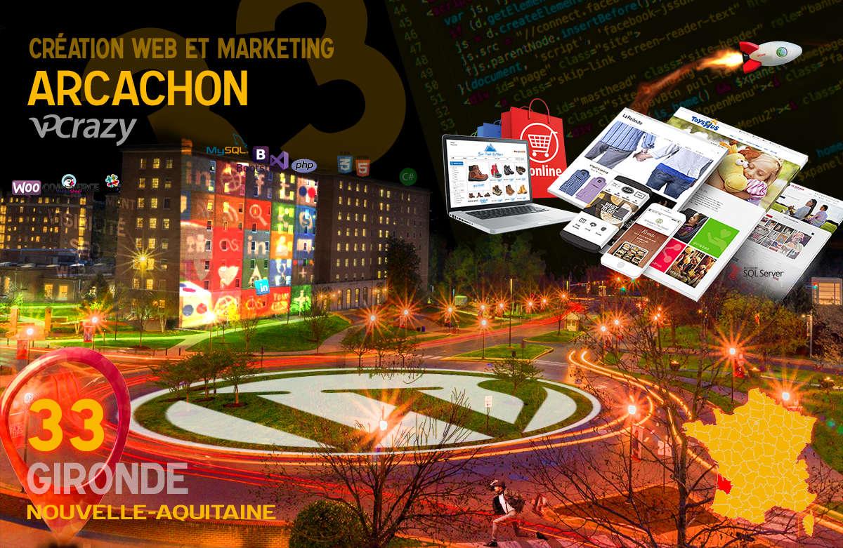 Créateur de site internet Arcachon et Marketing Web