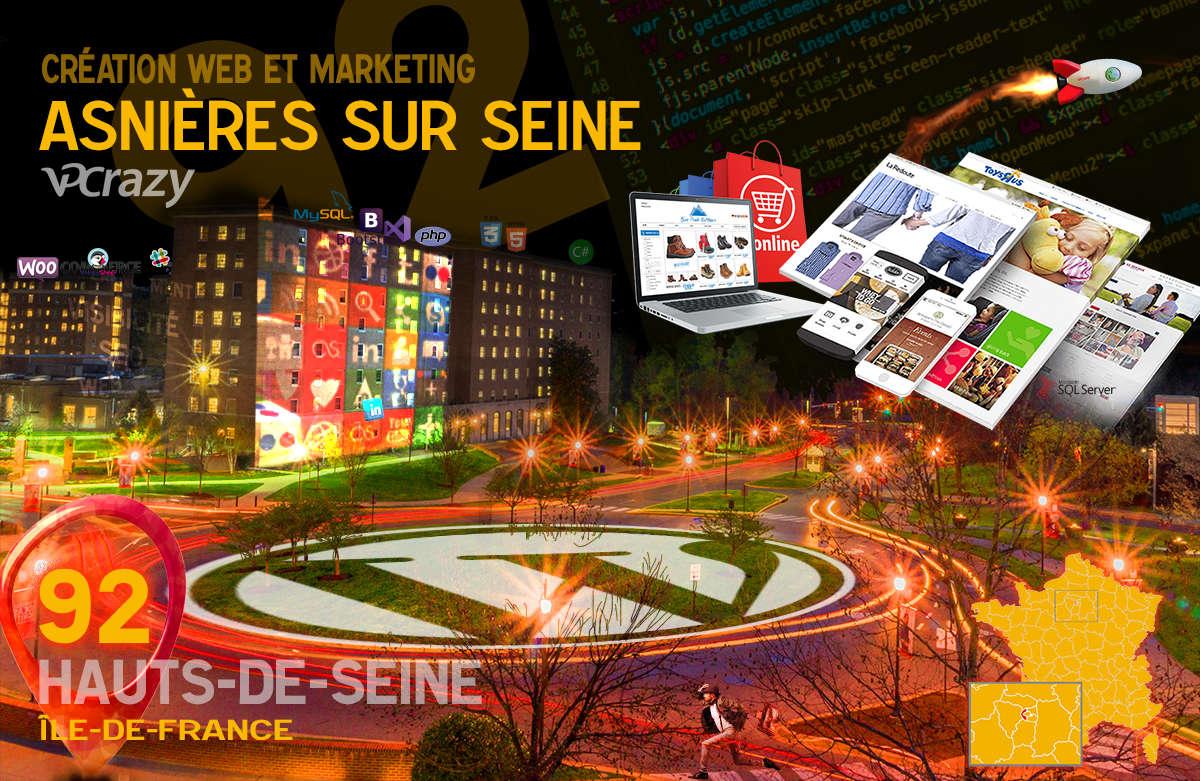 Créateur de site internet Asnières-sur-Seine et Marketing Web