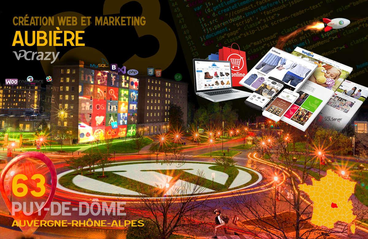 Créateur de site internet Aubière et Marketing Web