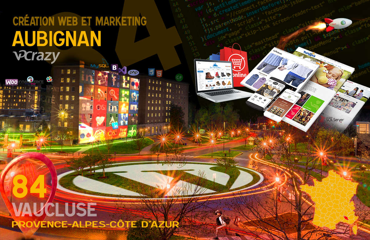 Créateur de site internet Aubignan et Marketing Web
