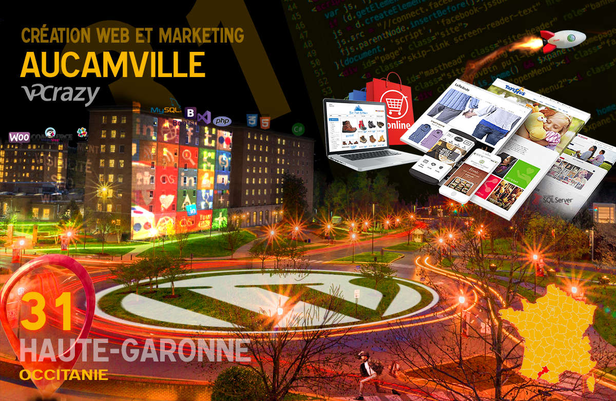 Créateur de site internet Aucamville et Marketing Web