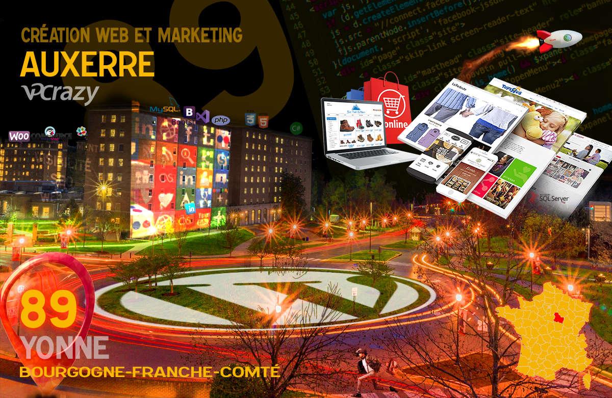 Créateur de site internet Auxerre et Marketing Web