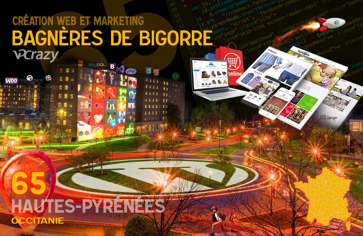 Créateur de site internet Bagnères-de-Bigorre et Marketing Web