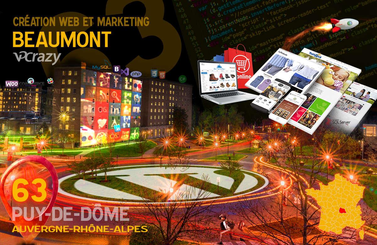 Créateur de site internet Beaumont et Marketing Web