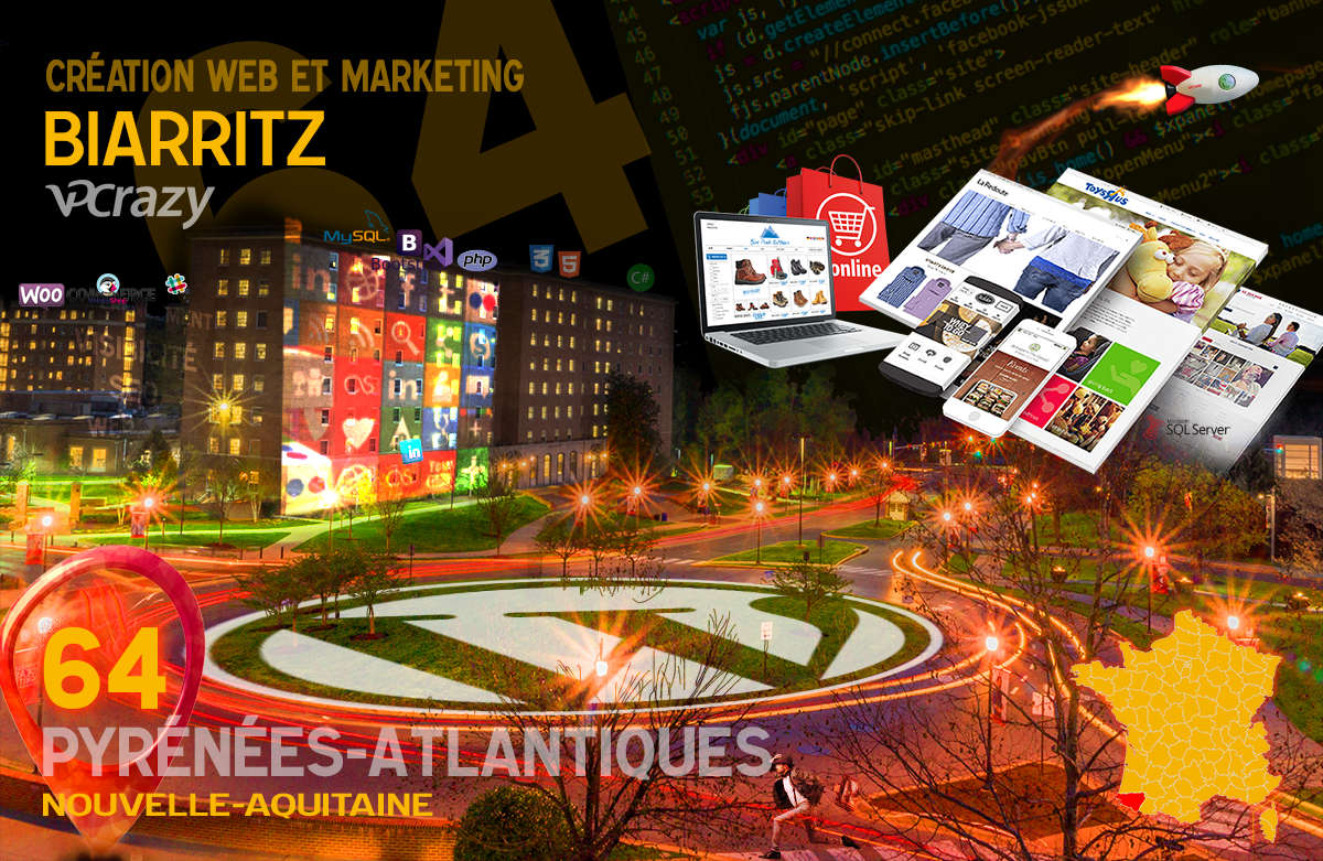 Créateur de site internet Biarritz et Marketing Web