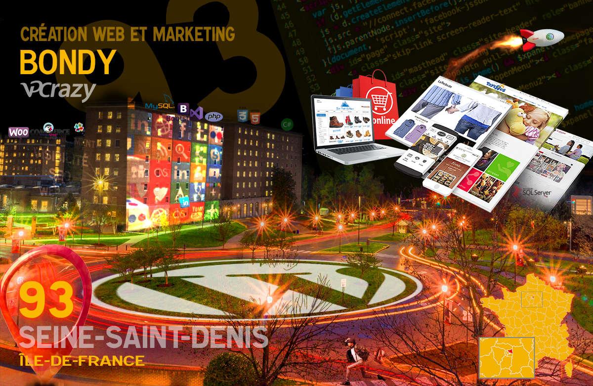 Créateur de site internet Bondy et Marketing Web