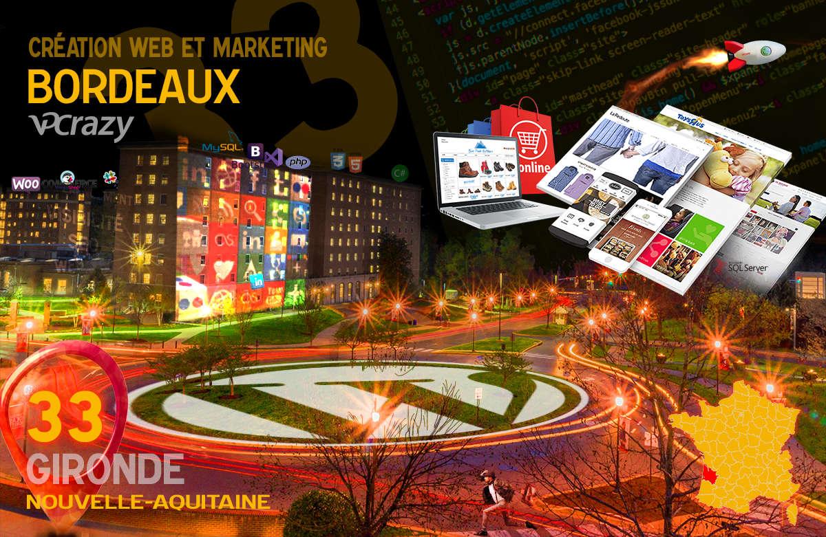 Créateur de site internet Bordeaux et Marketing Web
