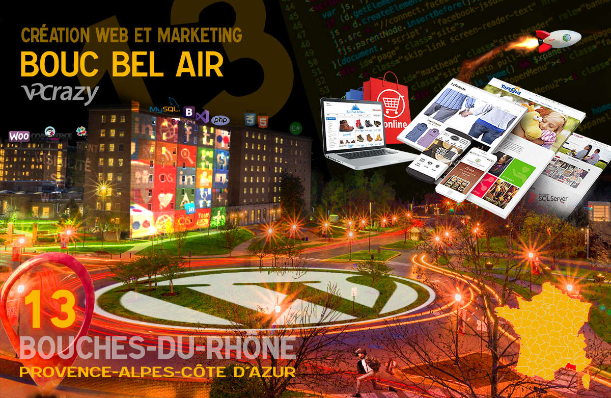 Créateur de site internet Bouc-Bel-Air et Marketing Web