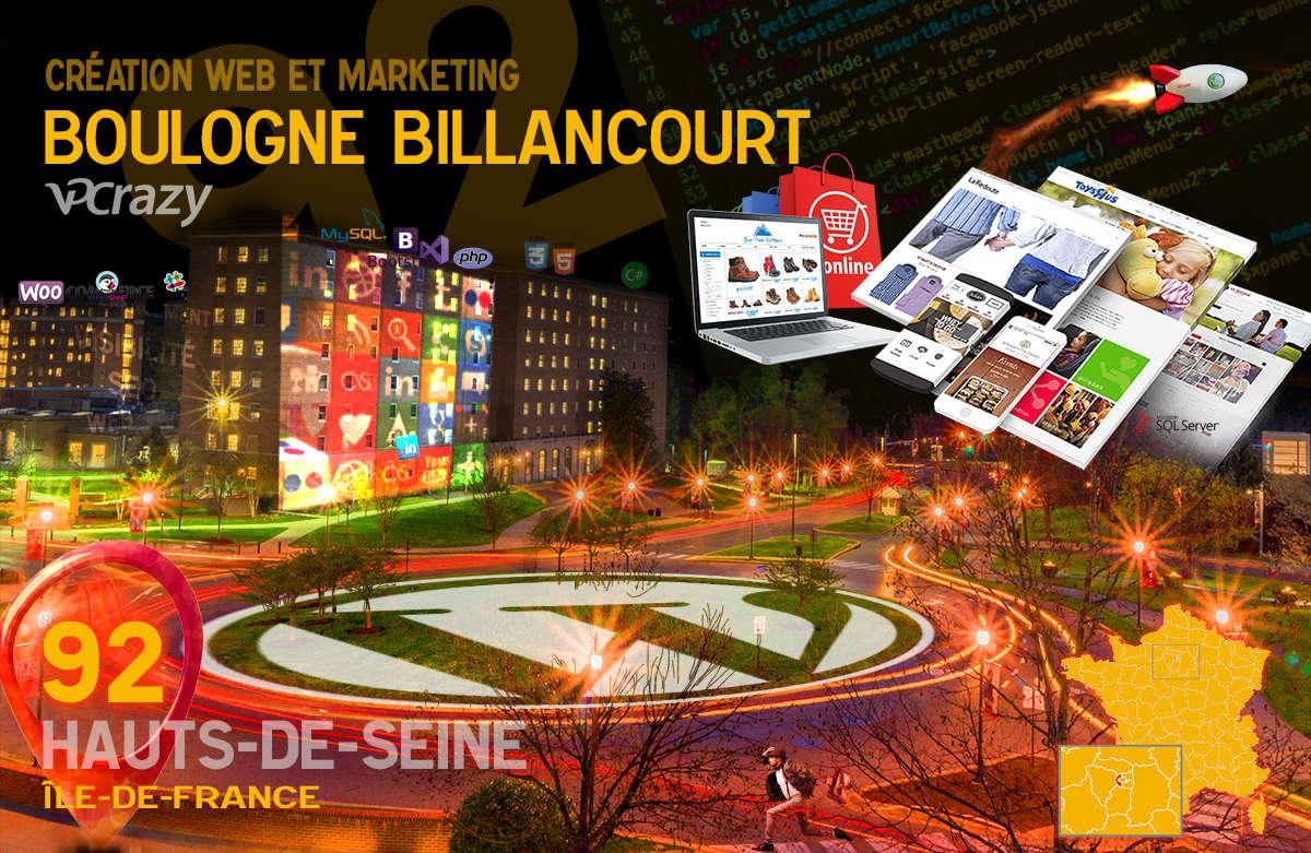 Créateur de site internet Boulogne-Billancourt et Marketing Web