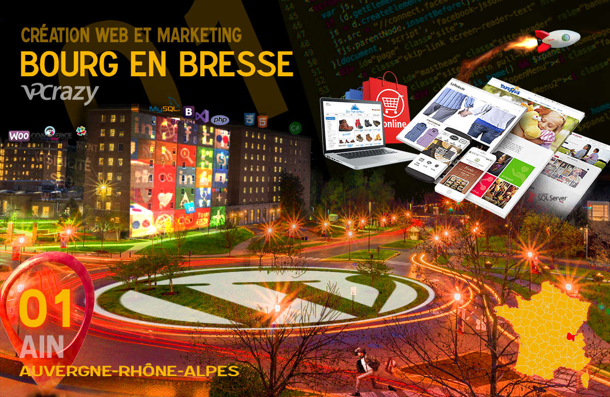 Créateur de site internet Bourg-en-Bresse et Marketing Web