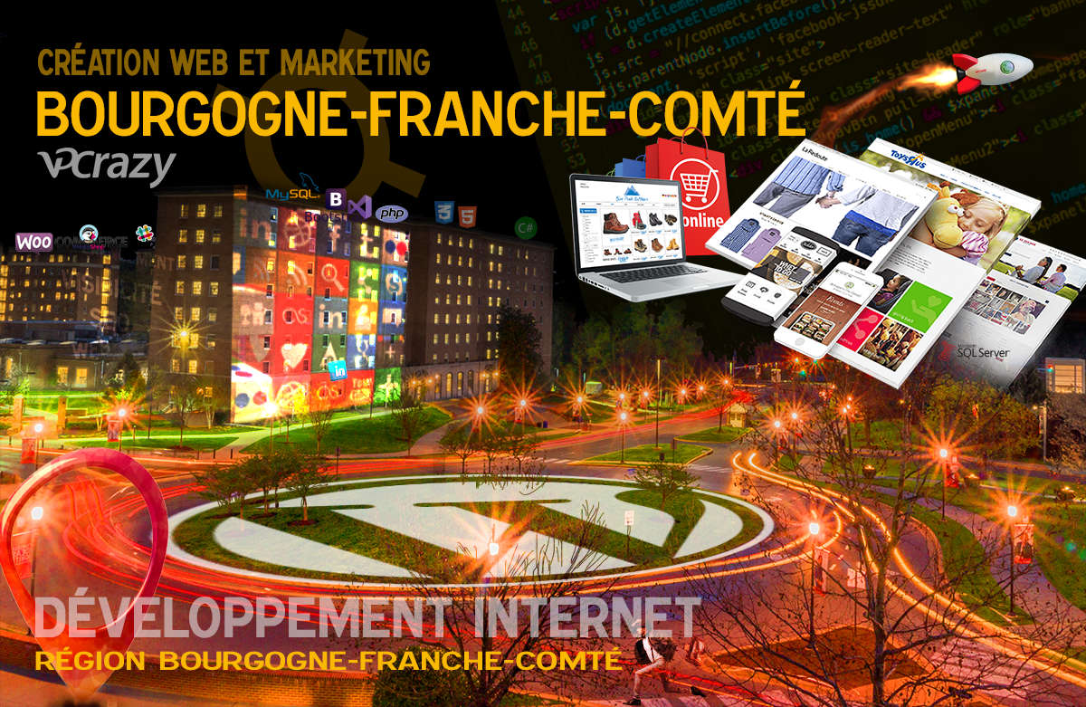 Créateur de site internet Bourgogne-Franche-Comté et Marketing Web