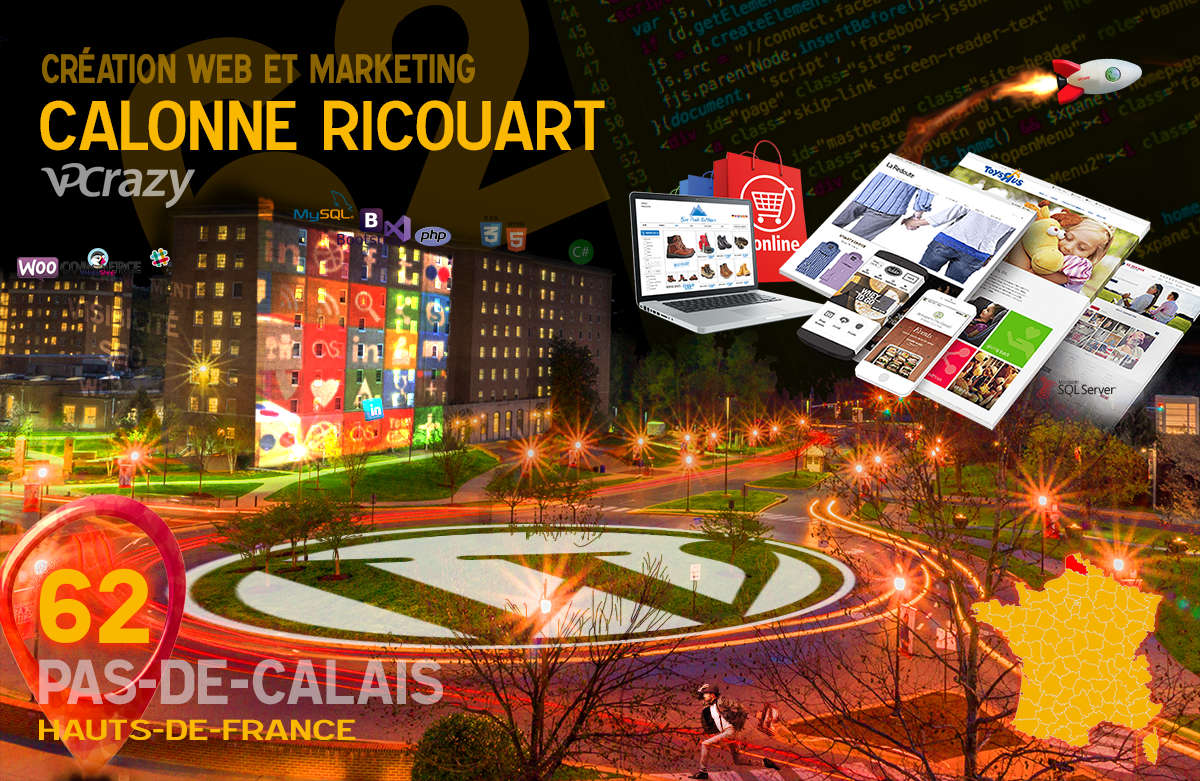 Créateur de site internet Calonne-Ricouart et Marketing Web