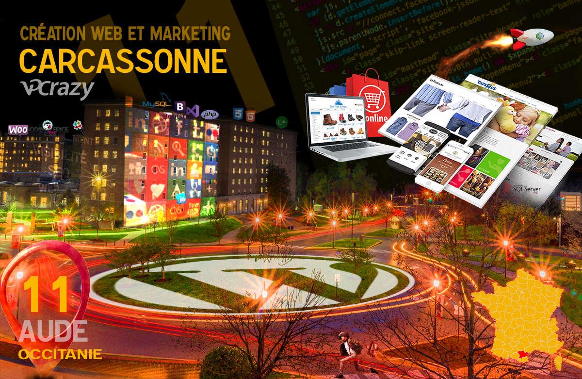 Créateur de site internet Carcassonne et Marketing Web