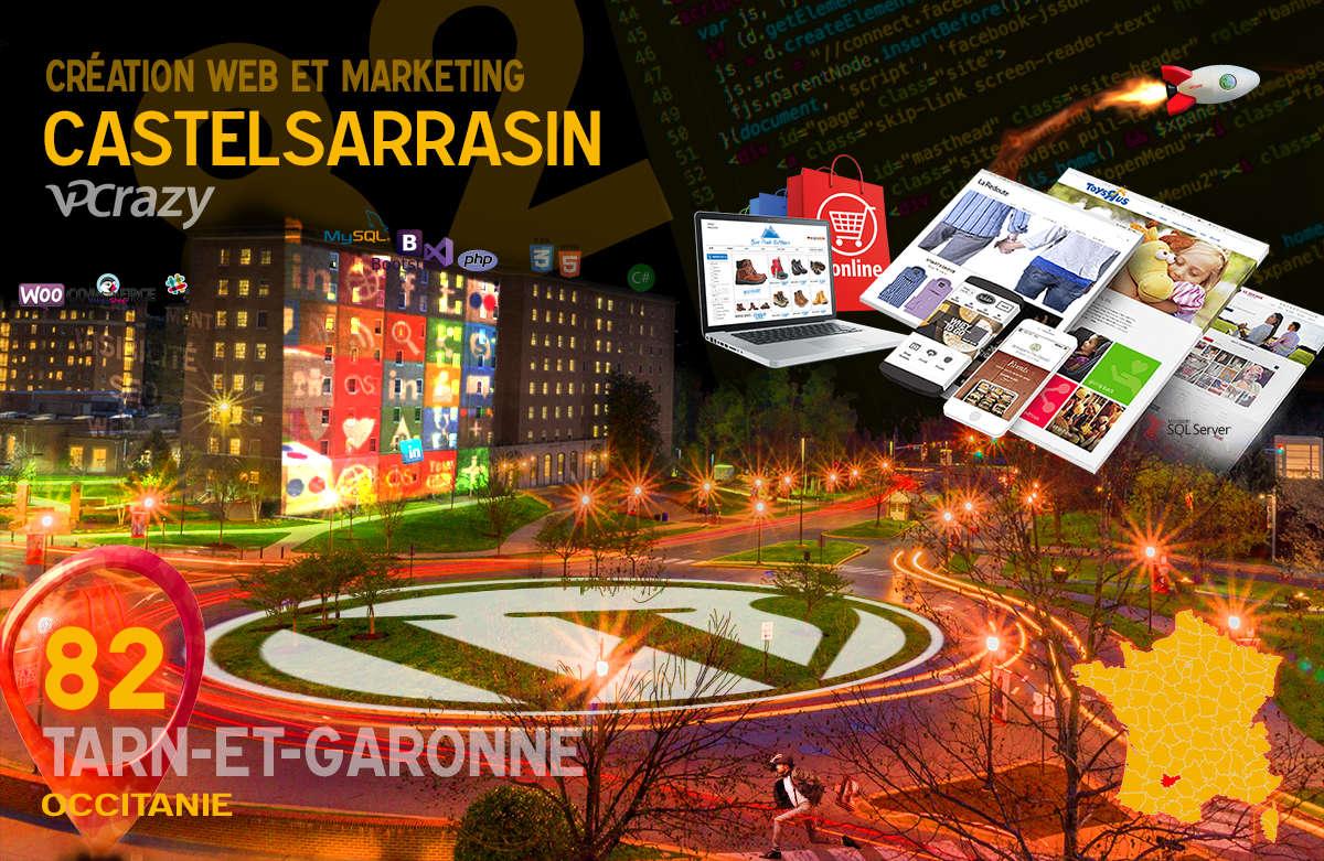 Créateur de site internet Castelsarrasin et Marketing Web
