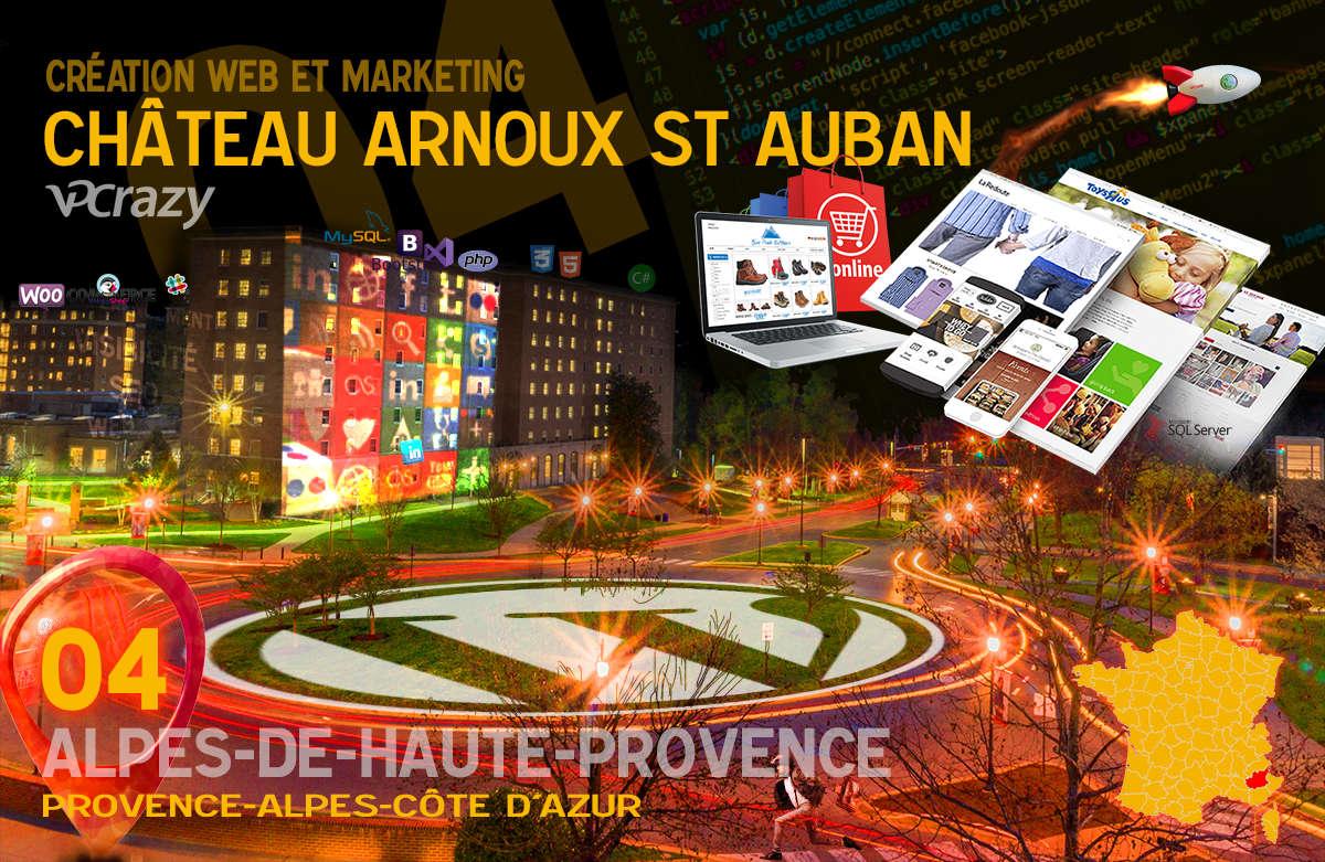 Créateur de site internet Château-Arnoux-St-Auban et Marketing Web