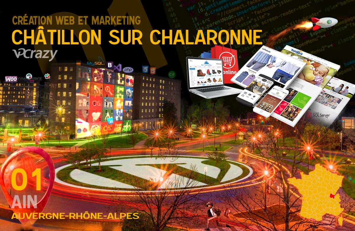 Créateur de site internet Châtillon-sur-Chalaronne et Marketing Web