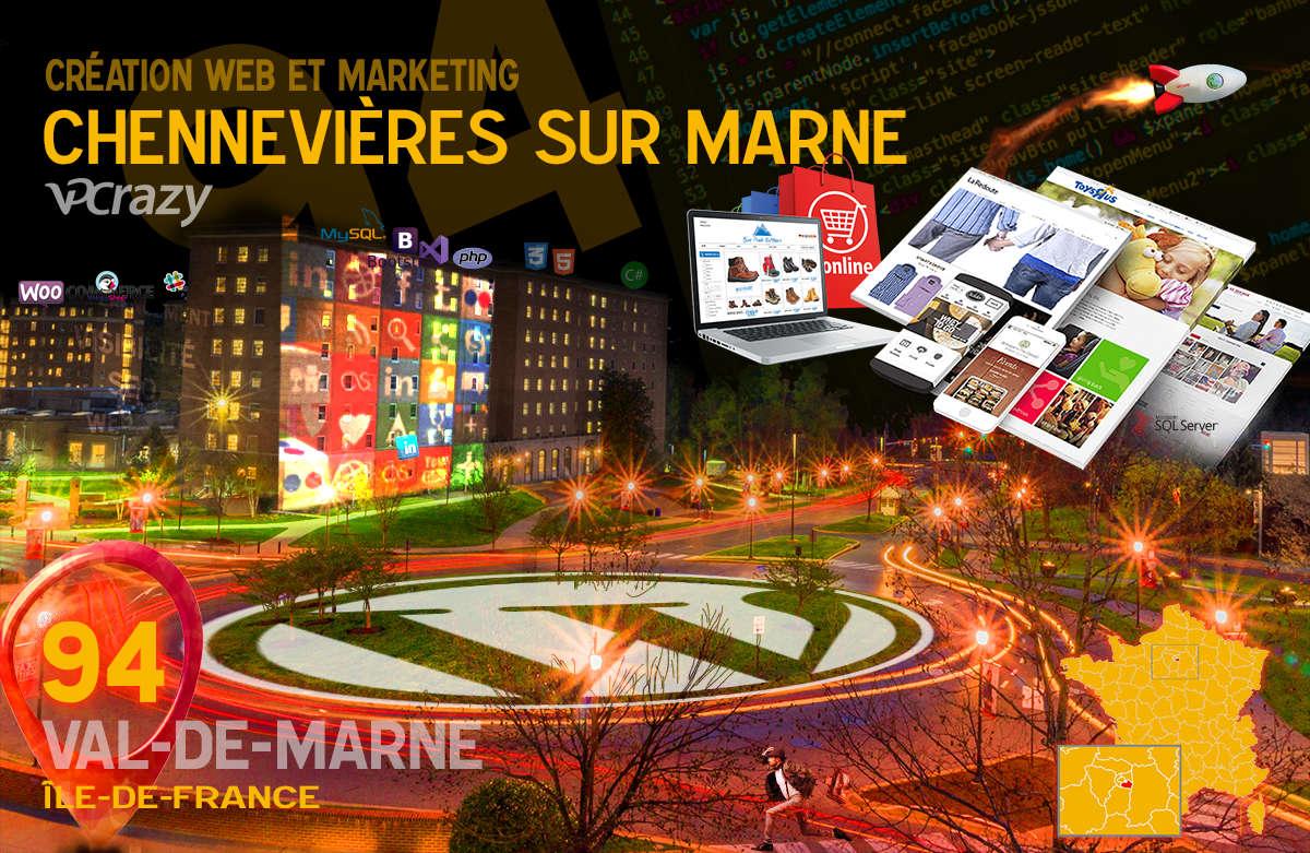 Créateur de site internet Chennevières-sur-Marne et Marketing Web