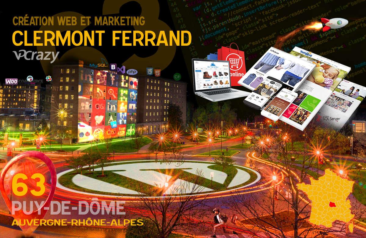 Créateur de site internet Clermont-Ferrand et Marketing Web
