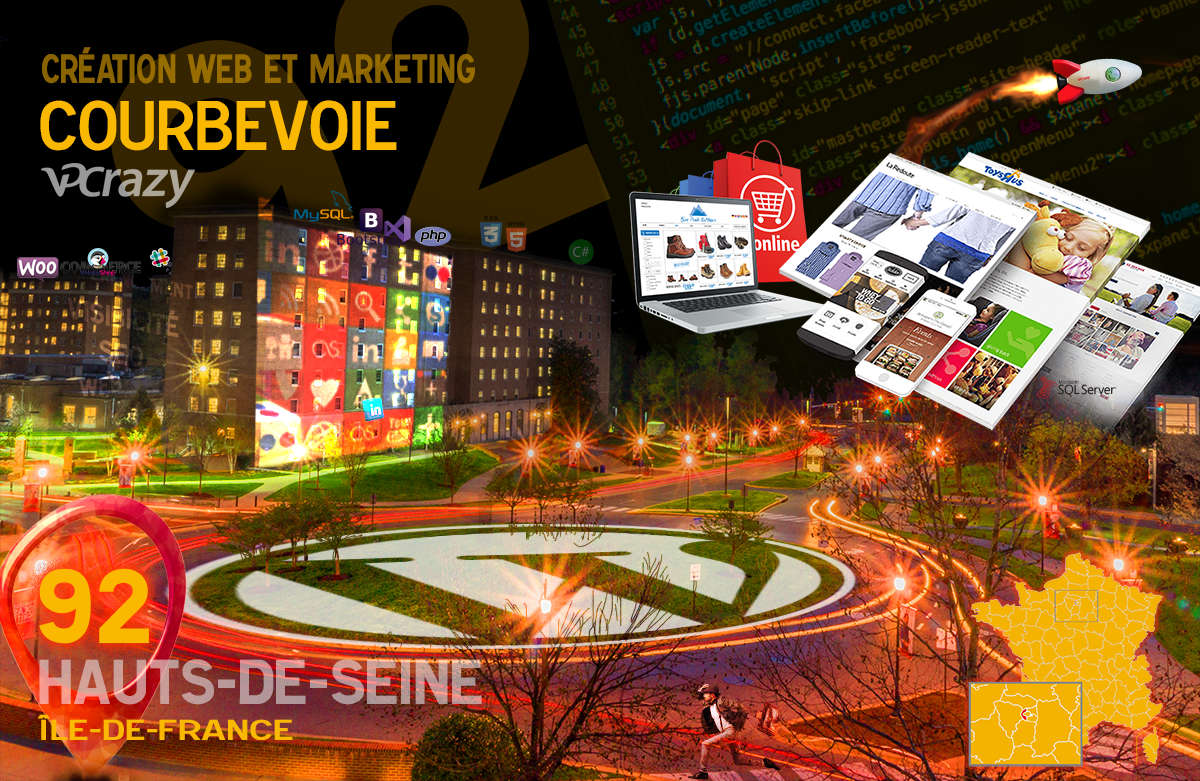 Créateur de site internet Courbevoie et Marketing Web