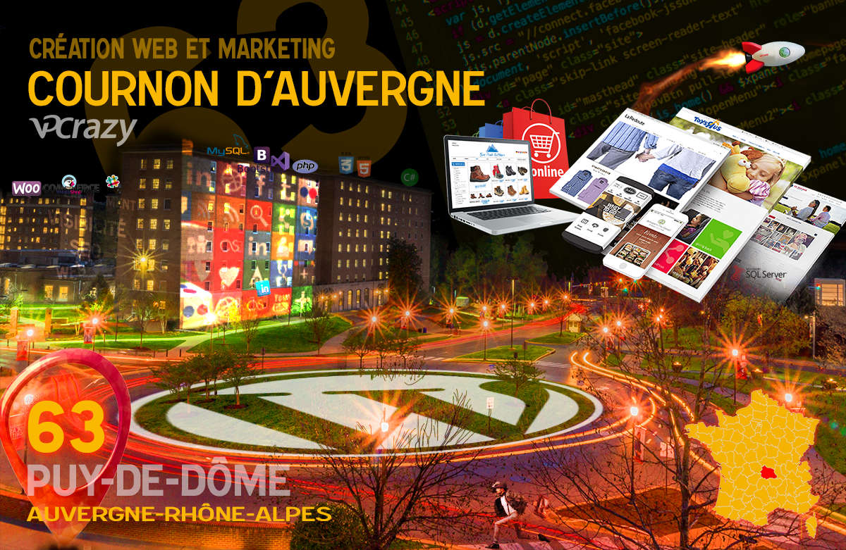 Créateur de site internet Cournon-d'Auvergne et Marketing Web