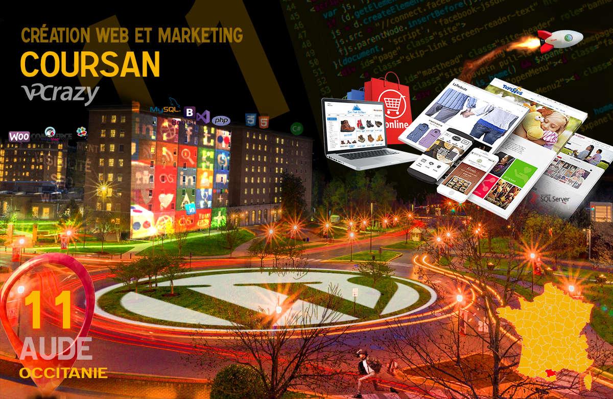 Créateur de site internet Coursan et Marketing Web