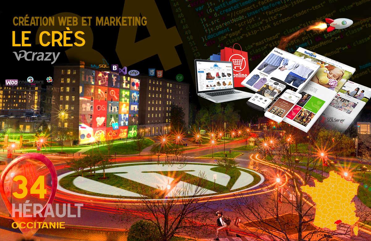 Créateur de site internet Le Crès et Marketing Web