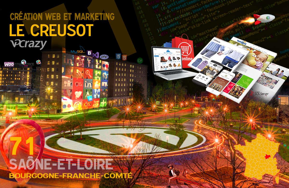 Créateur de site internet Le Creusot et Marketing Web
