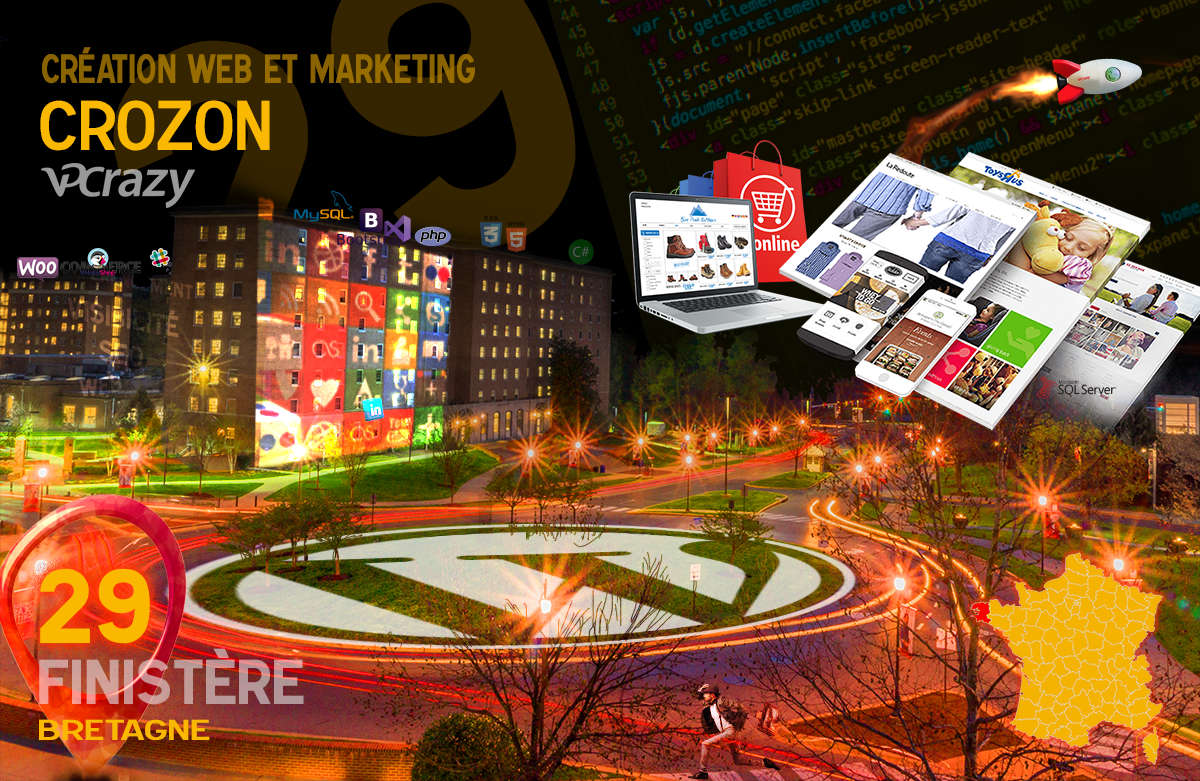 Créateur de site internet Crozon et Marketing Web