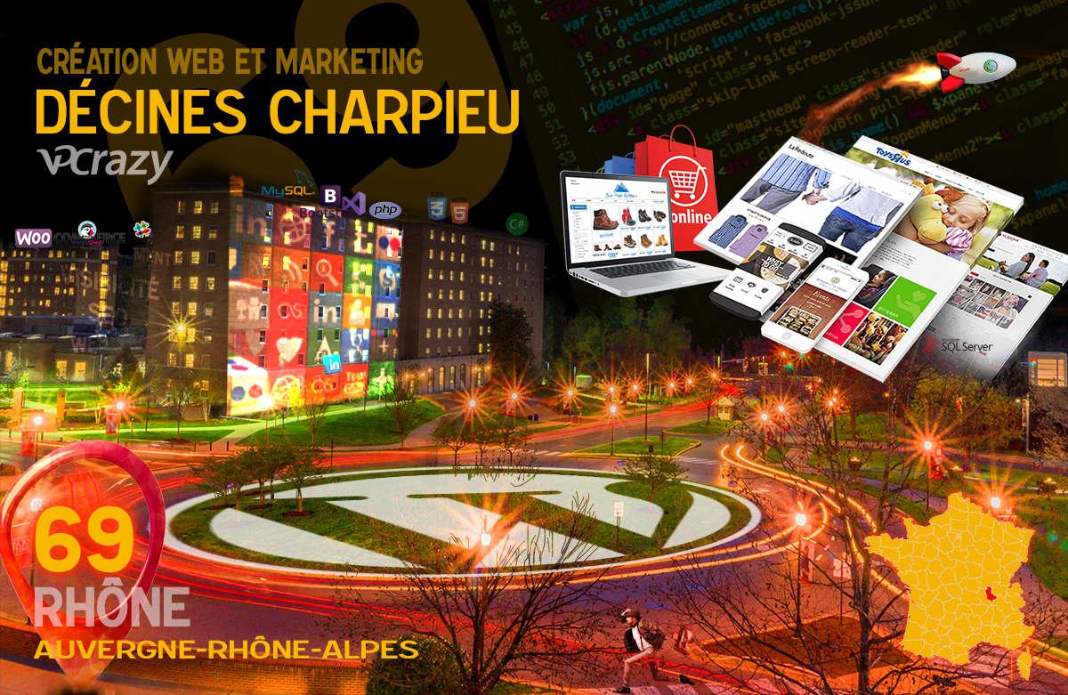 Créateur de site internet Décines-Charpieu et Marketing Web