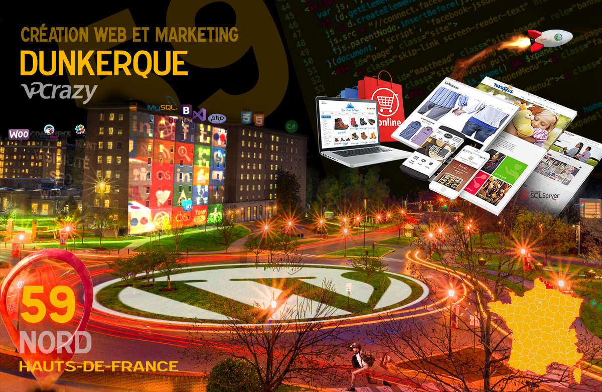 Créateur de site internet Dunkerque et Marketing Web
