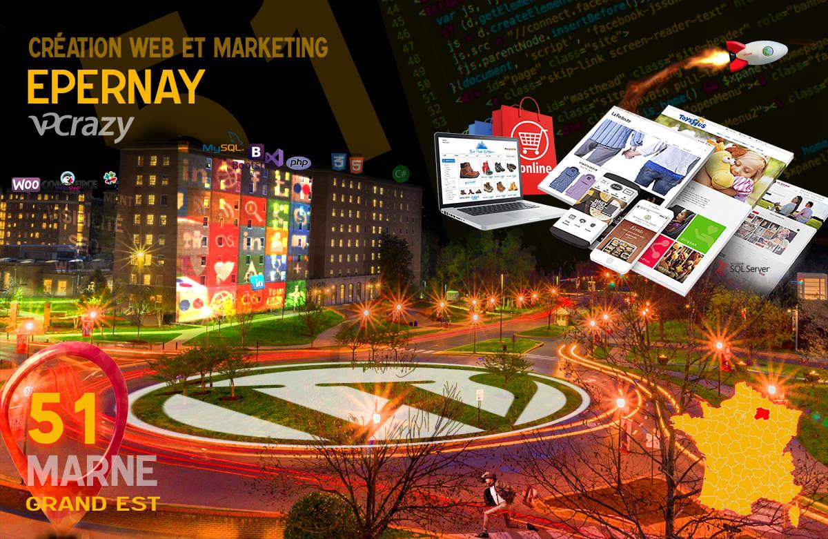 Créateur de site internet Epernay et Marketing Web