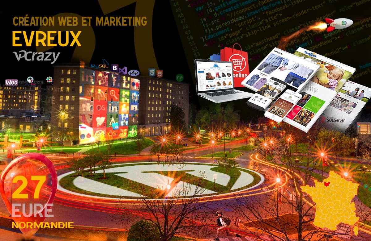 Créateur de site internet Evreux et Marketing Web