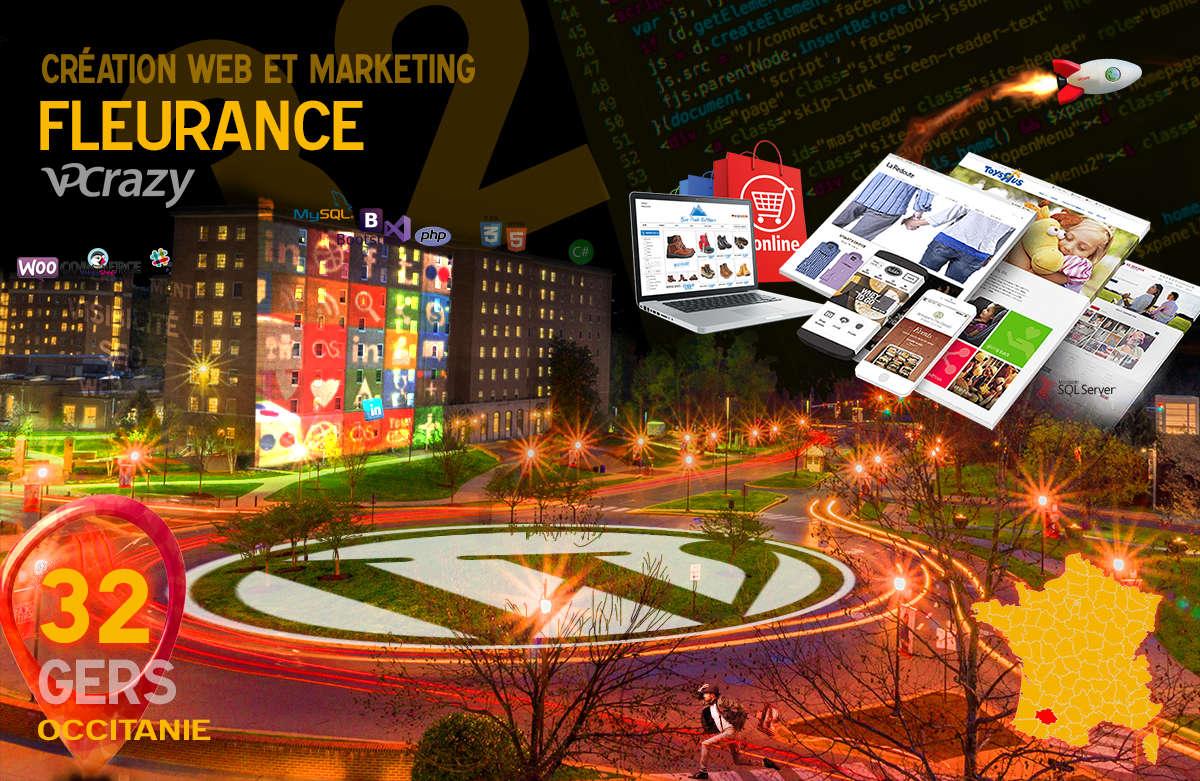 Créateur de site internet Fleurance et Marketing Web