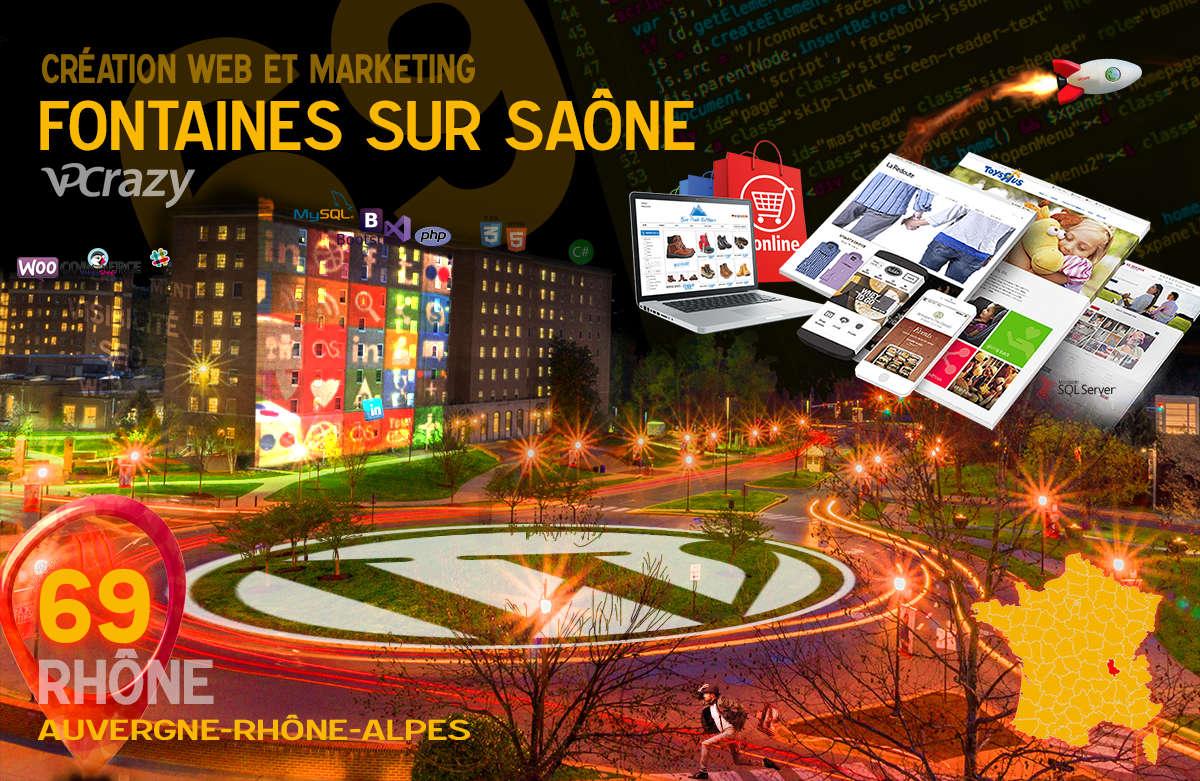 Créateur de site internet Fontaines-sur-Saône et Marketing Web