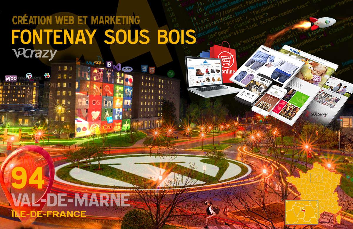 Créateur de site internet Fontenay-sous-Bois et Marketing Web