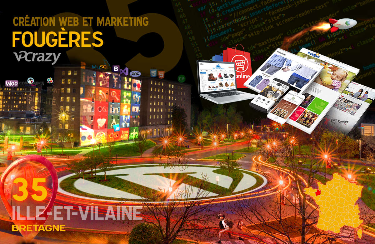 Créateur de site internet Fougères et Marketing Web
