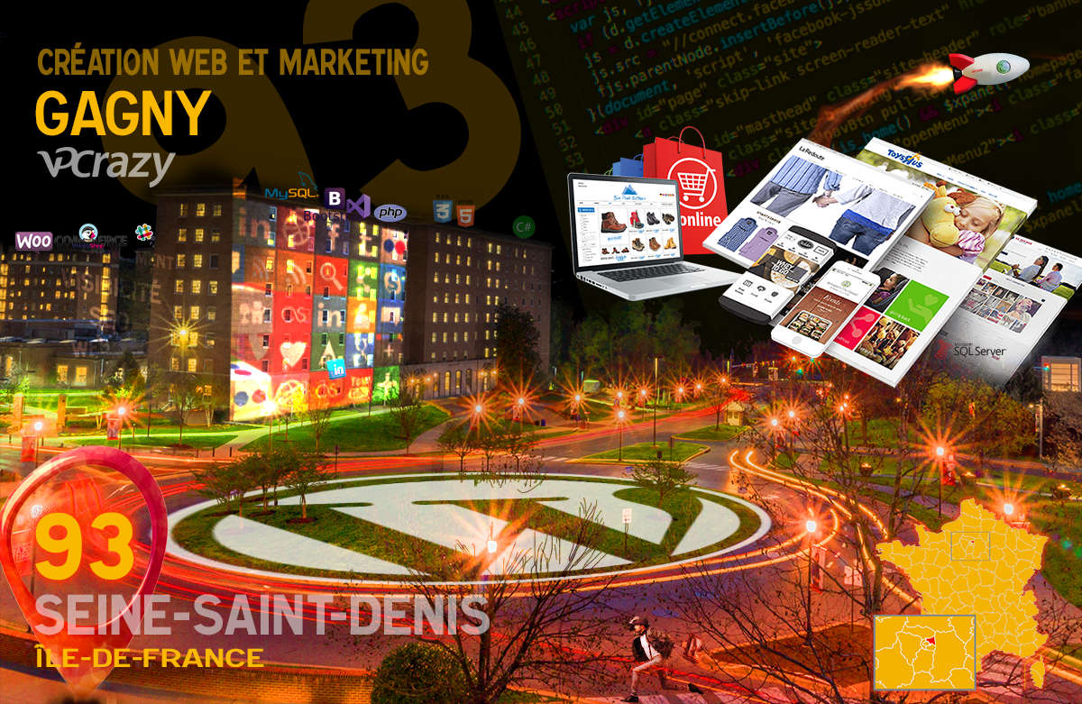 Créateur de site internet Gagny et Marketing Web