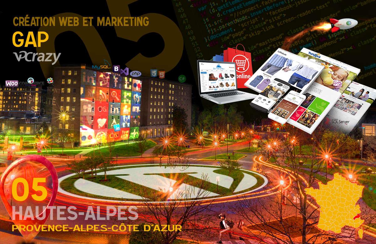 Créateur de site internet Gap et Marketing Web
