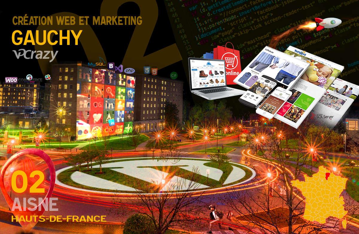 Créateur de site internet Gauchy et Marketing Web