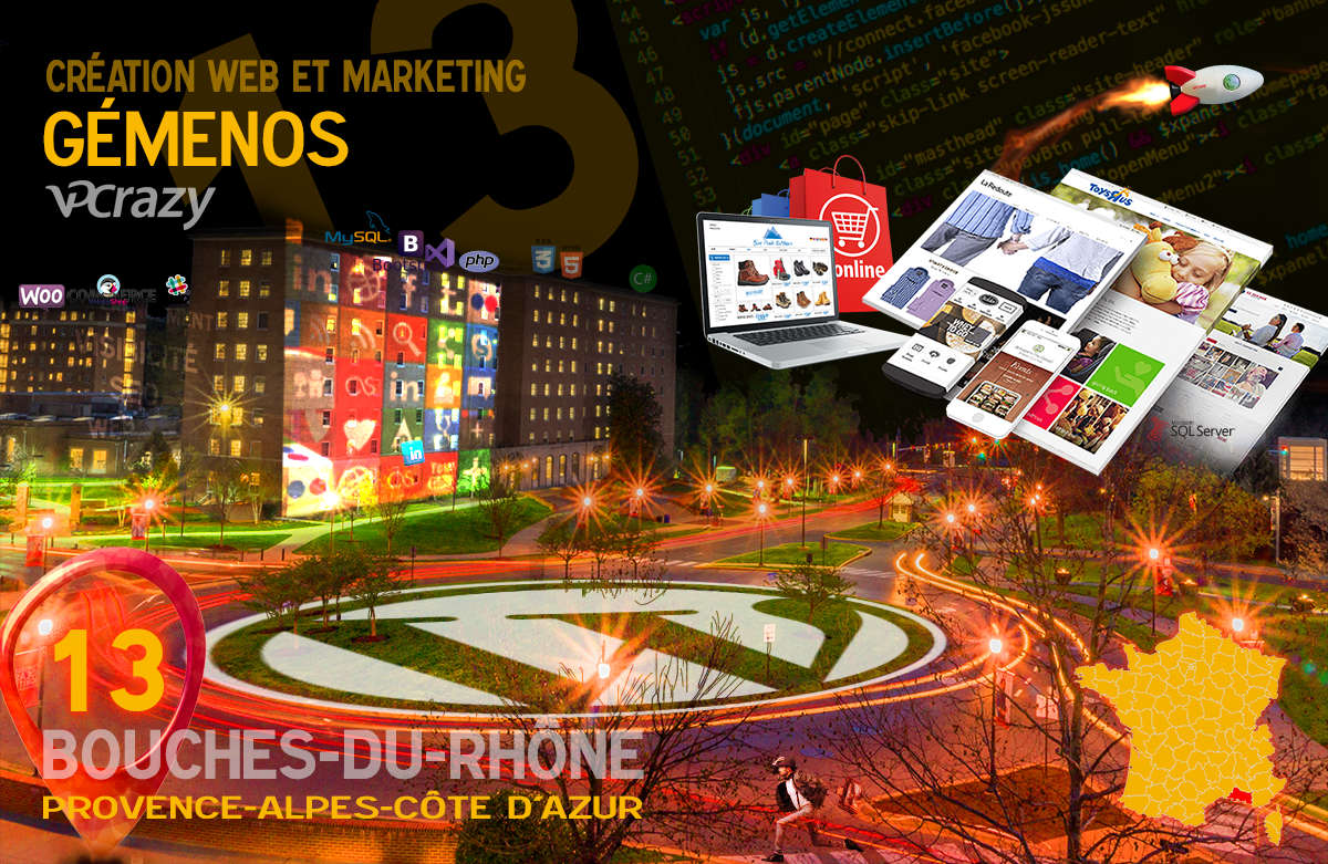 Créateur de site internet Gémenos et Marketing Web