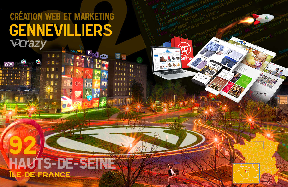Créateur de site internet Gennevilliers et Marketing Web